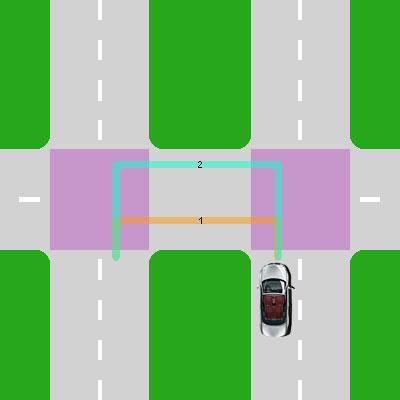 Перекресток с разделительной полосой