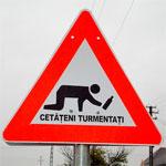 Дорожный знак Осторожно, пьяный пешеход!