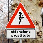 Дорожный знак Осторожно, девушки легкого поведения!