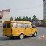 Сдача автодрома на автобусе
