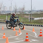 Сдача автодрома на мотоцикле