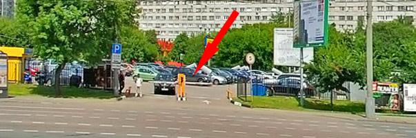 Въезд на перехватывающую парковку