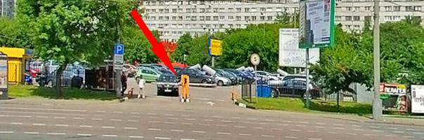 Выезд с перехватывающей парковки