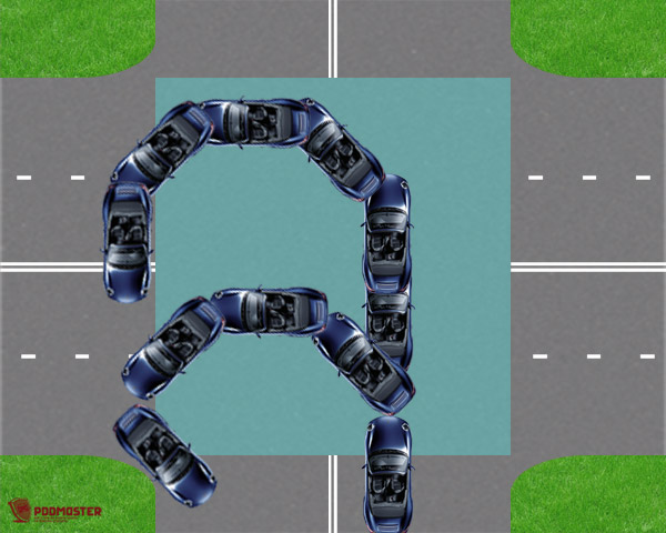 Лишение прав при развороте на перекрестке
