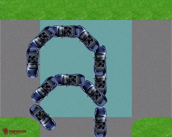 Разворот на Т-образном перекрестке без разметки