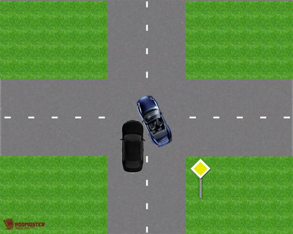 ДТП при движении по главной дороге