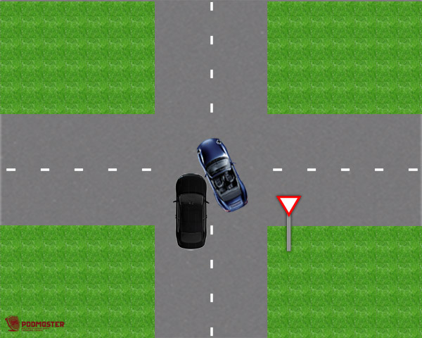 ДТП при движении по второстепенной дороге