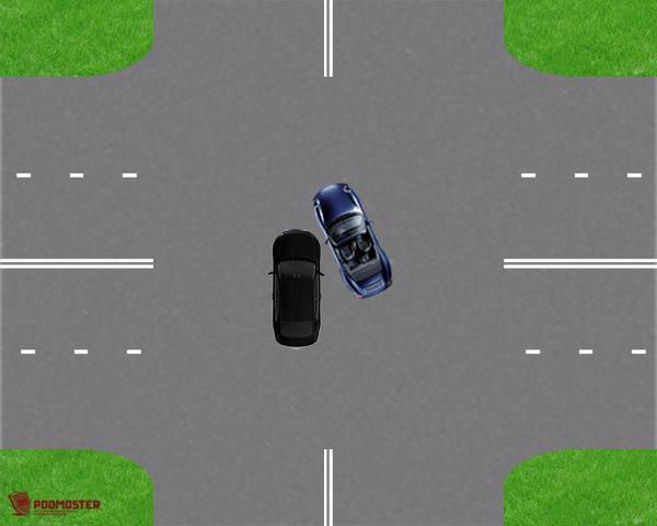 ДТП при движении по четырехполосной дороге