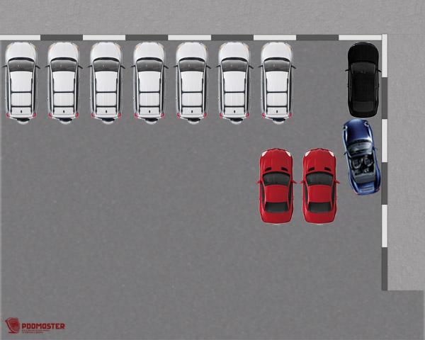 Минимальное расстояние до черного автомобиля