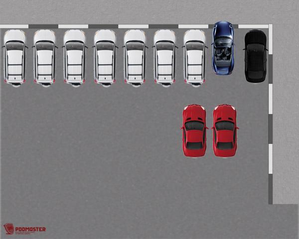 Колеса автомобиля касаются бордюра