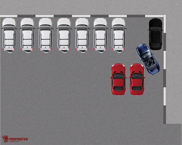 Между автомобилями