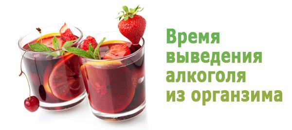 Время выведения алкоголя из организма