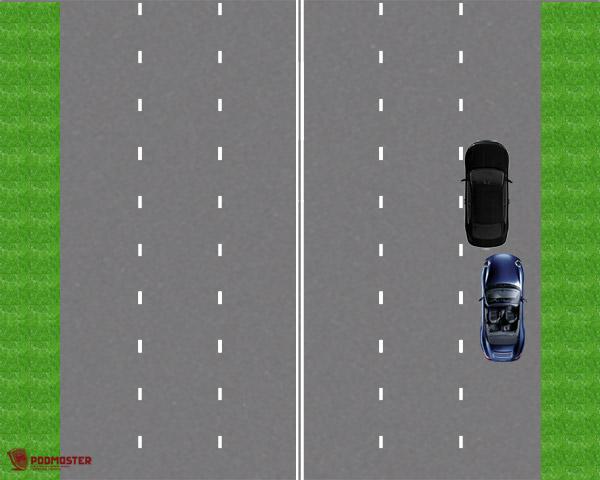 ДТП в пределах полосы движения