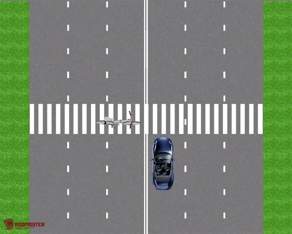 ДТП с велосипедистом на пешеходном переходе