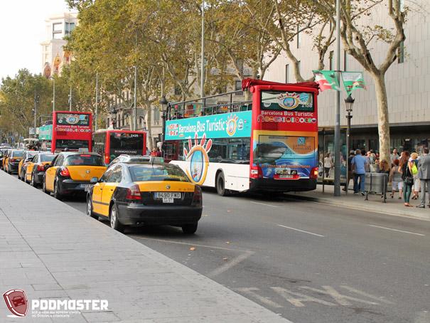 Стоянка такси в Барселоне