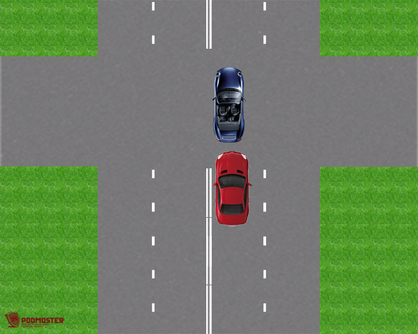 Автомобили на перекрестке