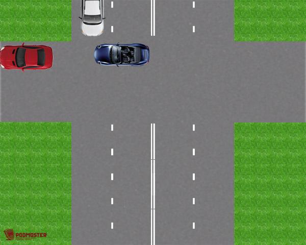 Столкновение с белым автомобилем