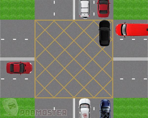Перекресток двухполосных дорог