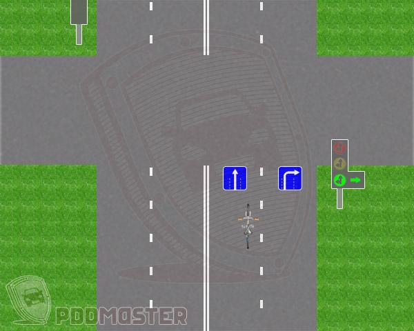 Велосипед на перекрестке