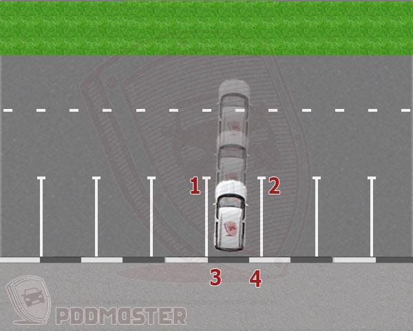 Этап 7. Въезд напарковочное место