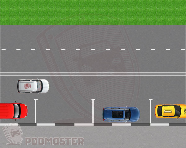 Схема упражнения Параллельная парковка