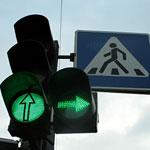 Сигналы светофора на регулируемом перекрестке