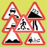 Знаки пешеходный переход, осторожно дети, скользкая дорога, лежачий полицейский