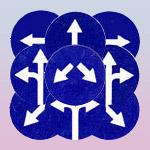 Предписывающие знаки: движение прямо, круговое движение, движение направо