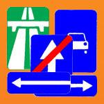 Знаки особых предписаний: автомагистраль, дорога для автомобилей, одностороннее движение