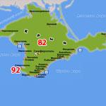 Номера регионов Крыма