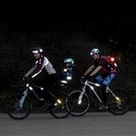 Светоотражатели у велосипедистов