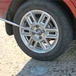 Кража колеса автомобиля