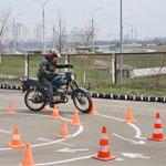 Сдача автодрома намотоцикле