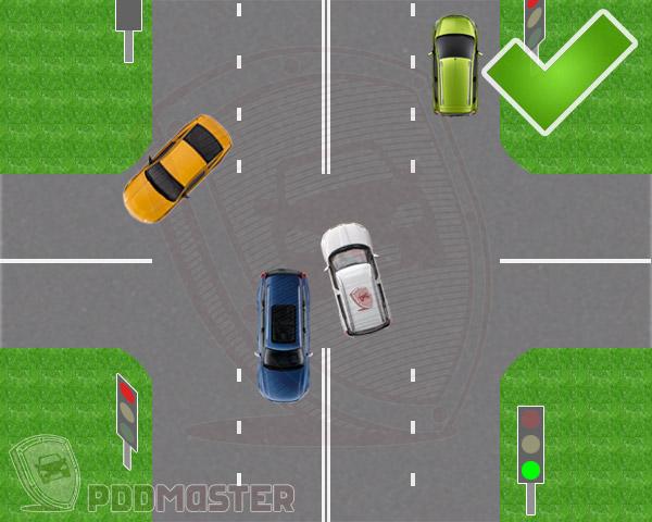 На какой цвет светофора можно переходить