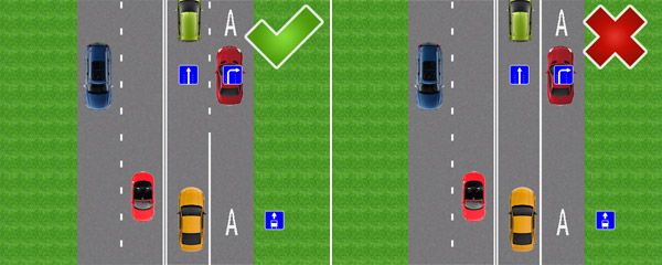 Знак полоса для маршрутных транспортных средств