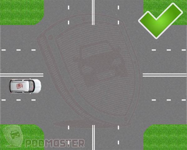 Пересечение двух четырехполосных дорог