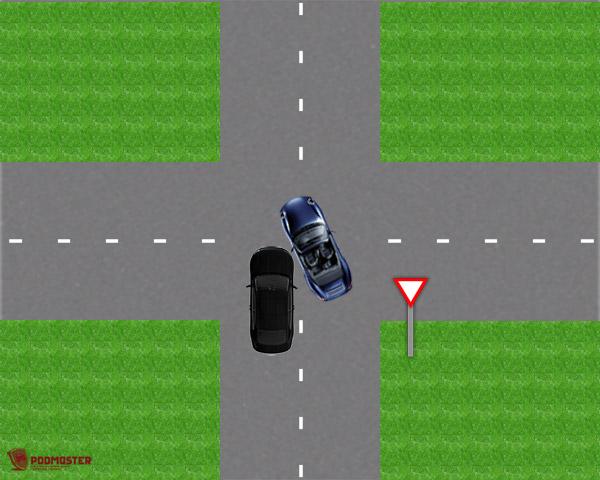 ДТП придвижении повторостепенной дороге