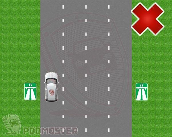 Технологические разрывы разделительной полосы на автомагистрали