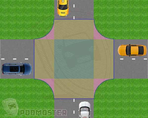 Сколько проезжих частей имеет этот перекресток