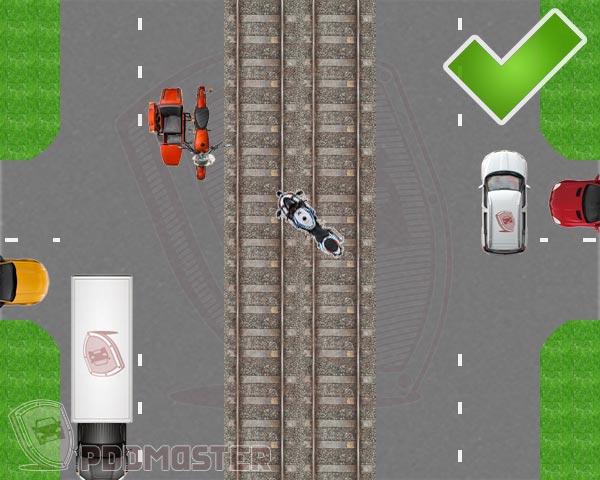 Поворот мотоцикла налево