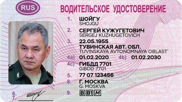Образец водительского удостоверения, соответствующий Венской конвенции
