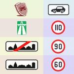 Скоростной режим легковых автомобилей