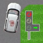 Сигналы светофора нарегулируемом перекрестке