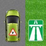 Учебная машина наавтомагистрали
